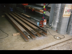 Drilling RSJ Beams at Our Workshop